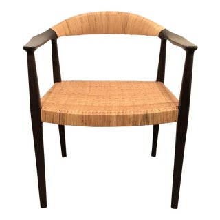 Bungalow 5 Mid-Century Style Canned Accent Chair For Sale