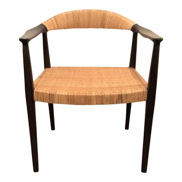 Excellent Bungalow 5 Mid Century Style Canned Accent Chair Evergreenethics Interior Chair Design Evergreenethicsorg