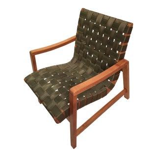 Jens Risom for Knoll Strap Lounge Chair For Sale