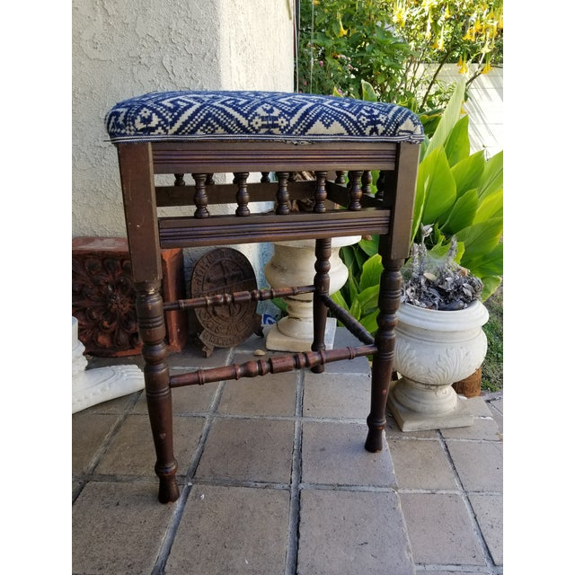 Antique 1930s Hand Embroidered Tribal Footstool For Sale - Image 9 of 9