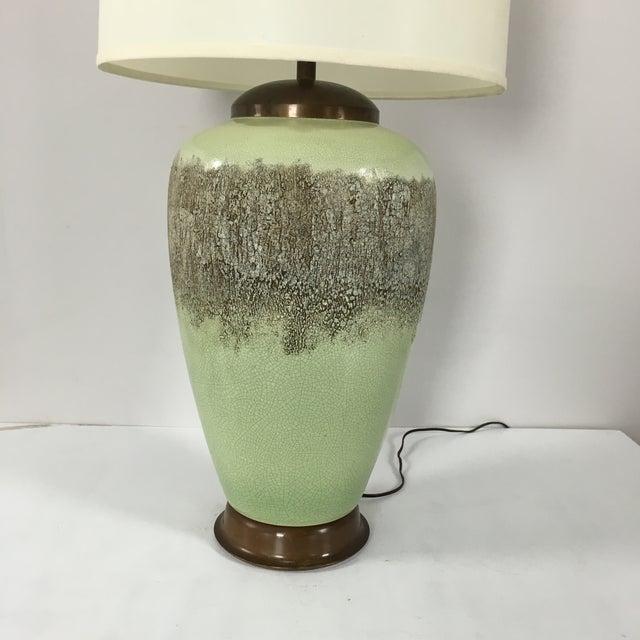 Mid-Century Modern Lamp in Pistachio - Image 3 of 7