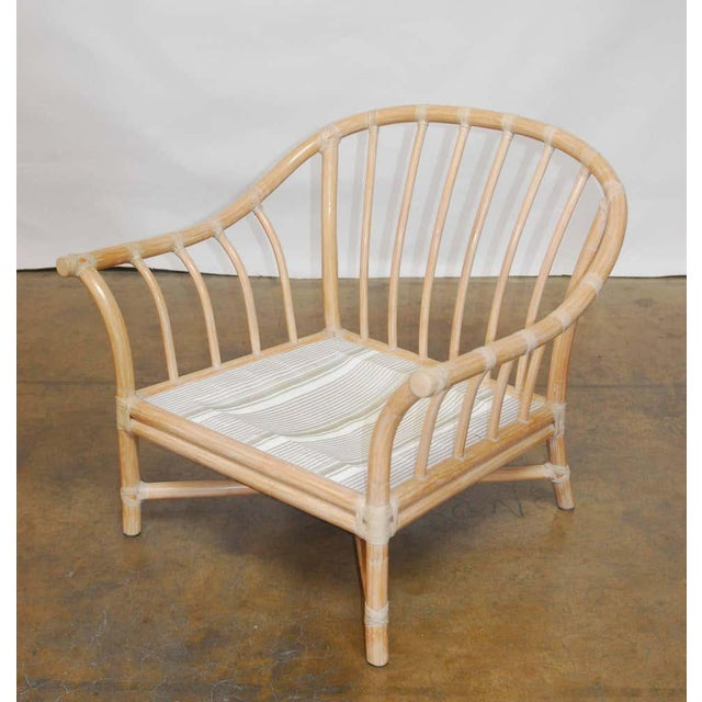 McGuire Vintage McGuire Bamboo Lounge Chairs - Set of 4 For Sale - Image 4 of 8