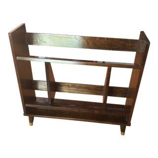 Mid-Century Modern Wooden Bookshelf