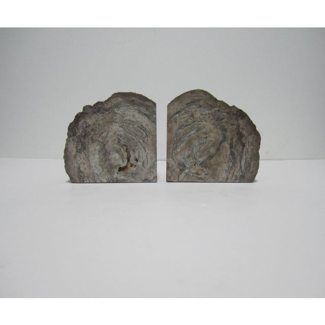 Vintage Gray Geode Bookends - A Pair - Image 2 of 7