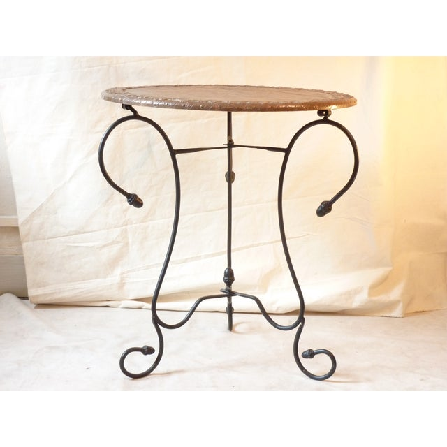 Mediterranean Copper Top Table For Sale - Image 3 of 5