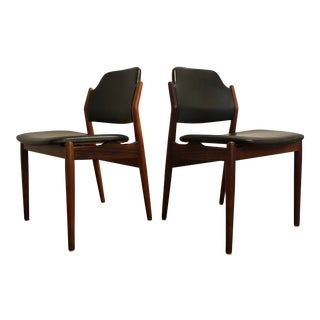 Arne Vodder for Sibast Rosewood and Leather Side Chairs, Made in Denmark, a Pair For Sale