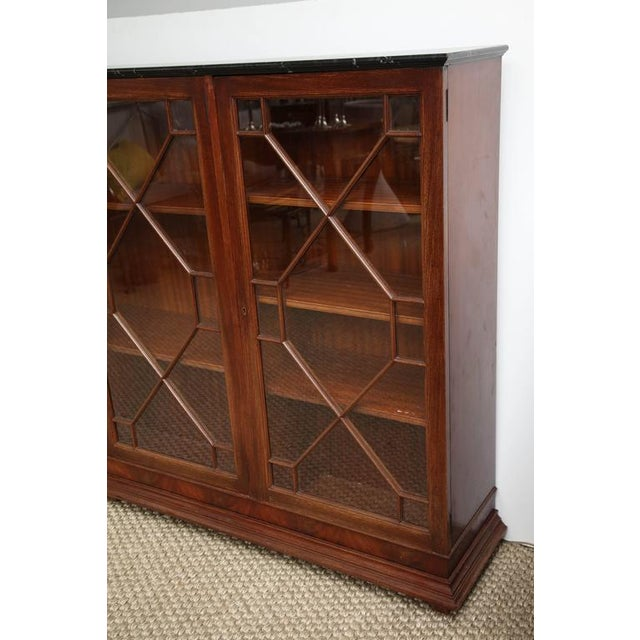 Brown English Mahogany Bookcase For Sale - Image 8 of 8