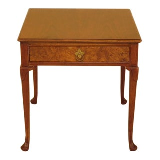 Baker 1 Drawer Walnut Occasional Table