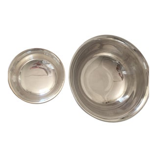 Reed & Barton and Gorham Revere Silver Plated Bowls - a Pair For Sale