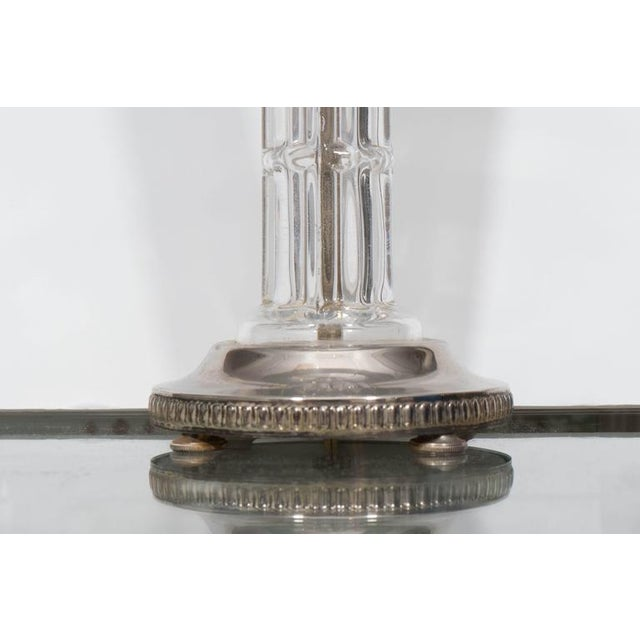 Pair of Glass and Silver Plate Lamps - Image 4 of 7