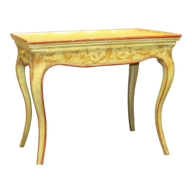 Italian Vintage Hand Painted End Table For Sale