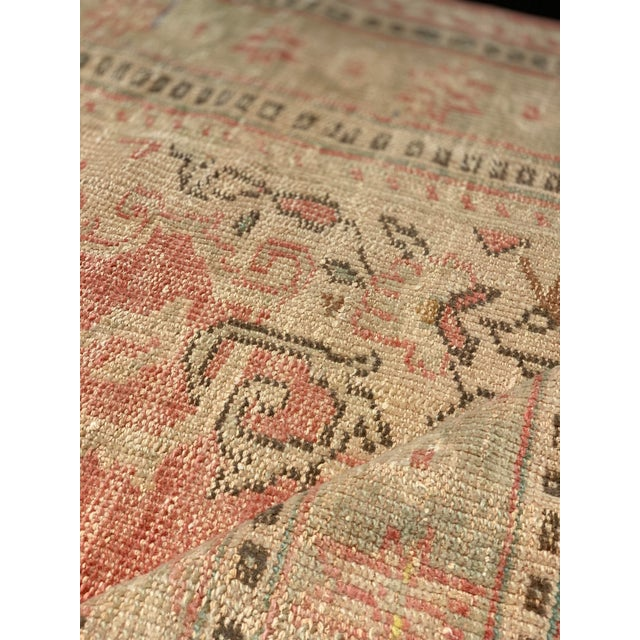 1920s 1920s Antique Distressed Turkish Oushak Area Rug - 6′6″ × 9′4″ For Sale - Image 5 of 13