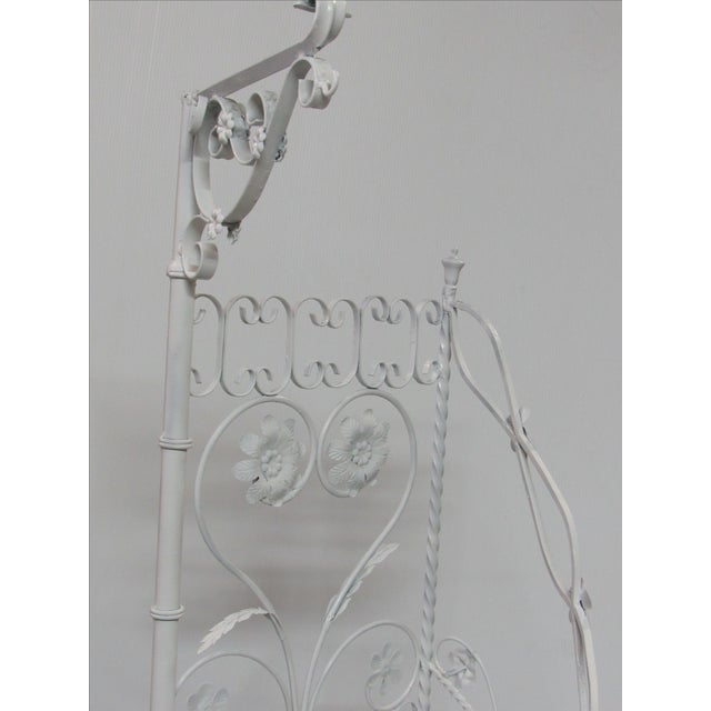 Wrought Iron Garden Staircase Planter Display For Sale - Image 7 of 9