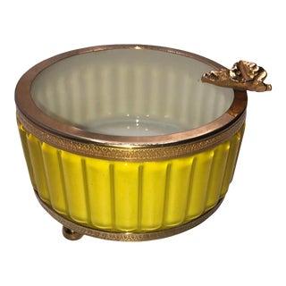 Antique Murano Yellow Ashtray For Sale