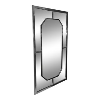 Modern Chrome Rectagular and Octagonal Mirror by Milo Baughman For Sale