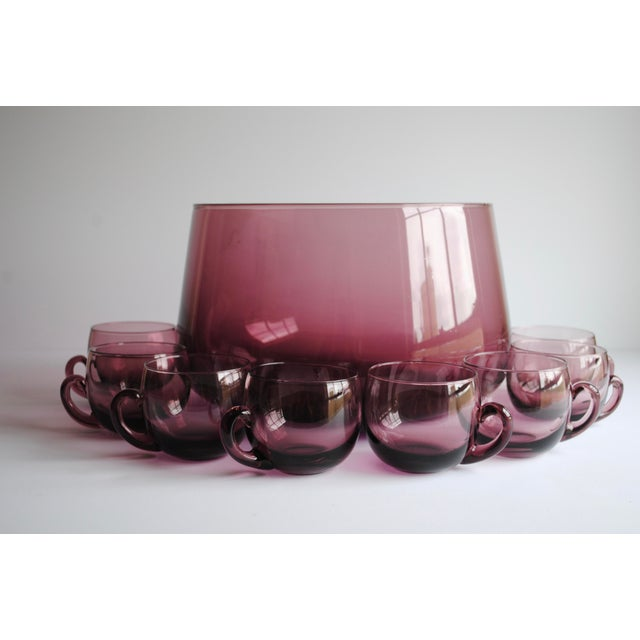 Mid-Century Punch Bowl & Glasses - Image 2 of 5