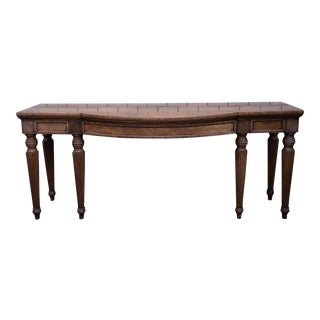 Antique Traditional Mahogany Console Table For Sale
