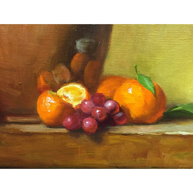 Still Life with Flower Pot, Tangerines and Grapes - Image 3 of 3