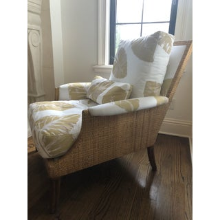 Mid Century McGuire Chair and Ottoman Preview