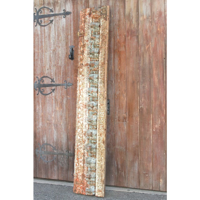 19th Century Stunning Tribal Architectural Carved Beam For Sale - Image 5 of 12