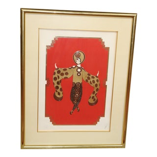 """1986 Erte """"Willow Tree"""" Serigraph Artist Proof For Sale"""