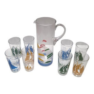 1920s Nautical Cocktail Set - Set of 9 For Sale