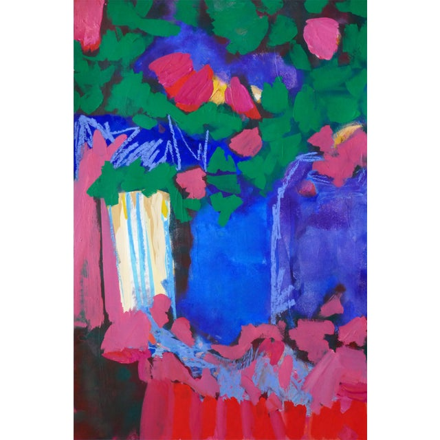"""Original """" Tree Blossoms"""" Contemporary Abstract Painting For Sale"""
