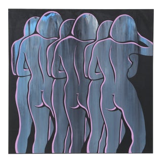 """1970s Roy Ahlgren, """"Images"""", Op Art Screenprint For Sale"""