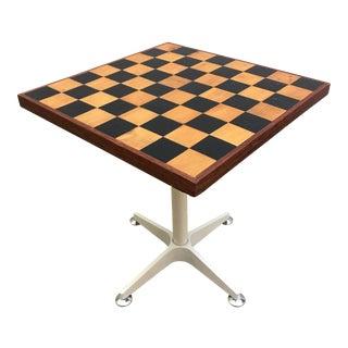 Vintage Chessboard Side Table