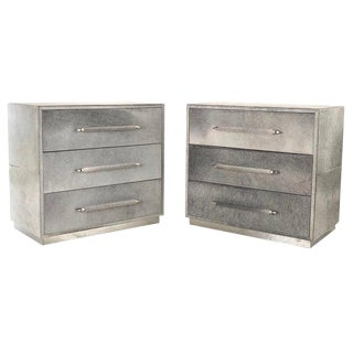 Contemporary Bernhardt Hair on Hide Chests - a Pair For Sale
