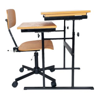 Danish Modern Kevi Chair and Desk by Rabami For Sale