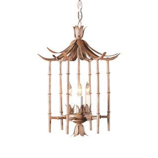 Wildwood Iron Bamboo Lantern For Sale