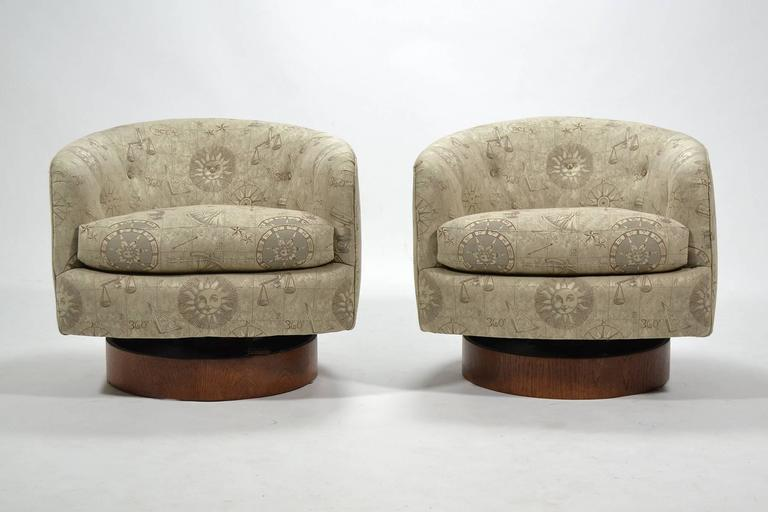 Directional Milo Baughman Barrel Back Chairs By Directional For Sale    Image 4 Of 10