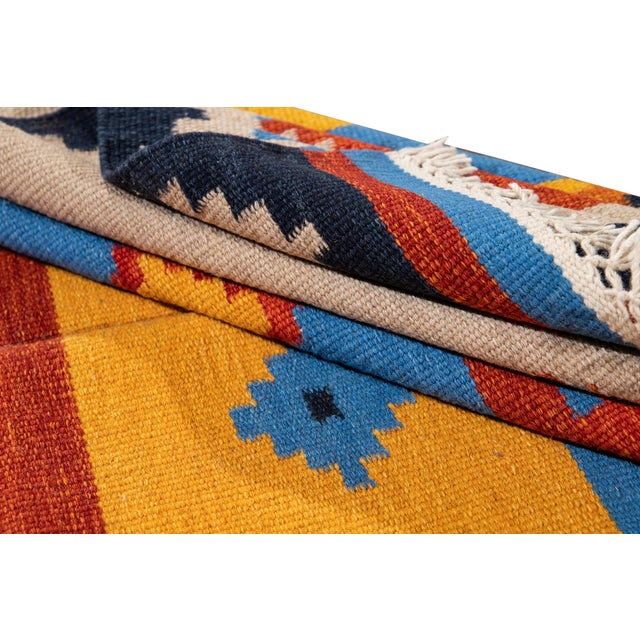 21st Century Modern Kilim Rug 5' 6'' X 8' 1'' For Sale In New York - Image 6 of 12