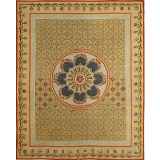 Handwoven Antique Aubusson Rug, Circa 1795, Directoire For Sale