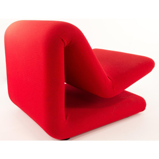 Textile Pierre Paulin for Artifort Style Mid-Century Modern French Chair For Sale - Image 7 of 8