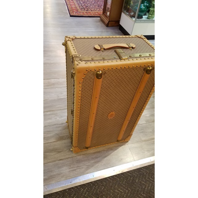 Gucci 1970's Original Gucci Logo Hard Sided Suitcases - a Pair For Sale - Image 4 of 12