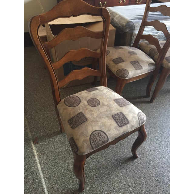 Ethan Allen Country French Dining Chairs - Set of 4 - Image 3 of 6