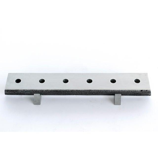 1960s Solid Aluminum Brutalist Candelabras For Sale - Image 5 of 7
