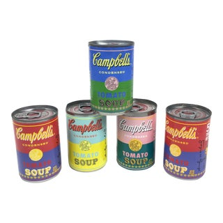 Andy Warhol Label Campbell's Tomato Soup Can - Set of 5