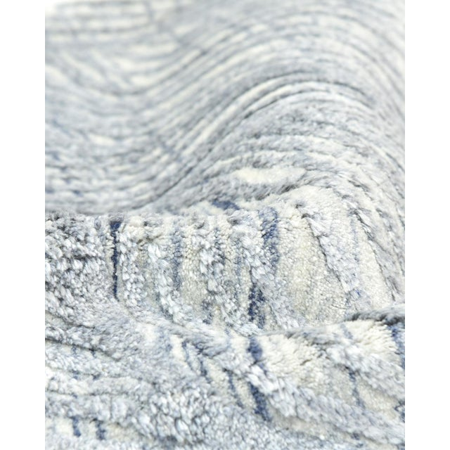 Textile Shiva, Contemporary Modern Hand Loomed Area Rug, Mist, 9 X 12 For Sale - Image 7 of 10