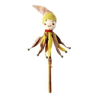 Early 20th Century Jester Marotte Toy For Sale