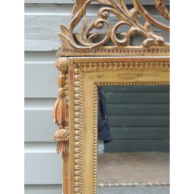 Late 18th Century Late 18th C Italian Neoclassical Mirror For Sale - Image 5 of 8