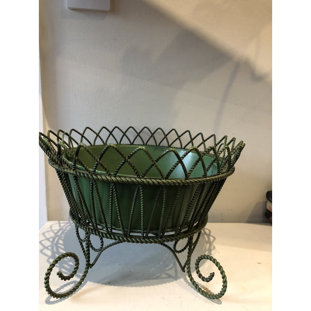French Wrought Iron Footed Planter For Sale - Image 4 of 7