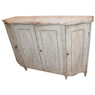 19th Century Painted & Carved Swedish Enfilade