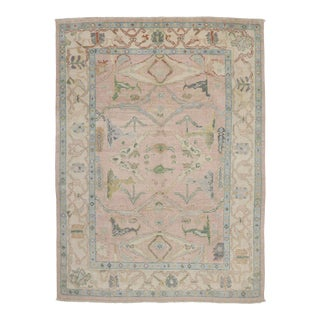 Contemporary Oushak Style Rug - 09'04 X 12'08 For Sale
