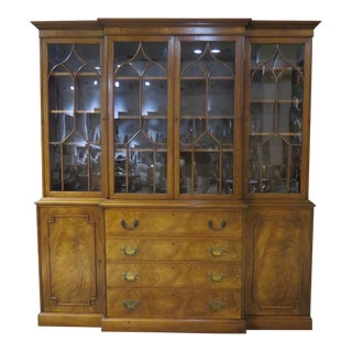 1950s Traditional Beacon Hill China Cabinet w/ Leather Desk For Sale