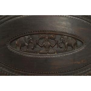 Mid 20th Century Asian Burmese Style Ebony Low Center Table For Sale - Image 5 of 12