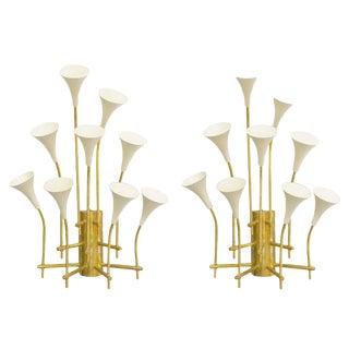 Trumpets Sconces by Fabio Ltd (Pair Available) For Sale