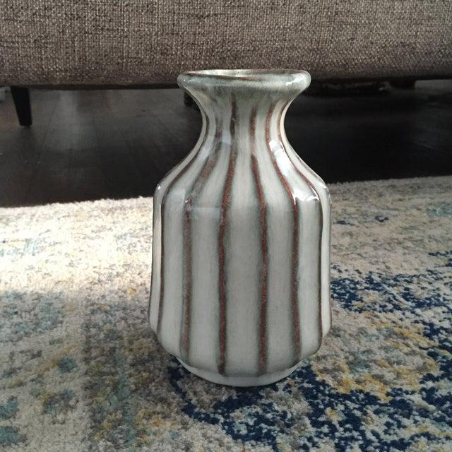 Mid-Century Modern Glazed Pottery Vase - Image 8 of 11